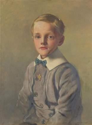 Three quarter length portrait of a young...