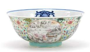 Chinese blue and white porcelain bowl wi...