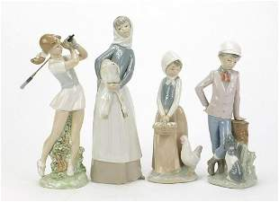 Lladro and Nao china figures including l...