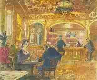 John Verney '49 - Cafe scene, mid 20th c...