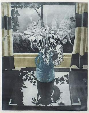 Richard Bawden - Winter still life, penc...