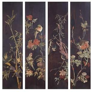 Birds of Paradise amongst flowers and ba...