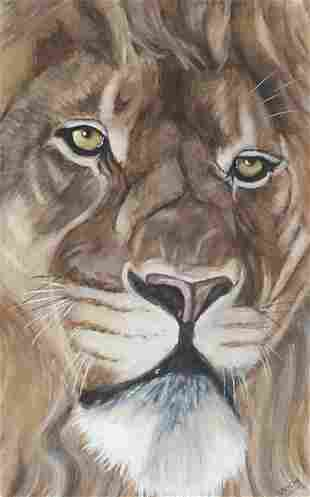 Will Smith - Portrait of a lion, waterco...