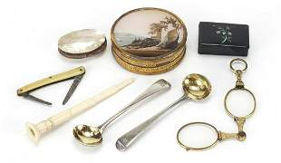 Antique and later objects including two ...