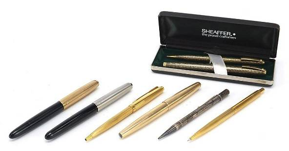 Fountain pens and propelling pencils inc...