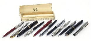 Vintage and later fountain pens and ball...