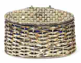 Elizabeth II silver basket weave design ...