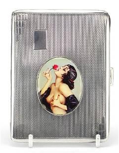 Beddoes & Co, Art Deco silver cigarette ...