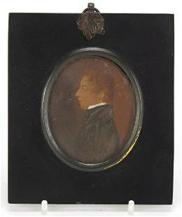 Victorian oval hand painted portrait min...