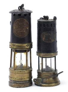 Two early 20th century miner's lamps inc...