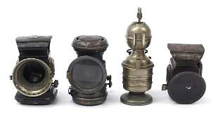 Four vintage lamps including Millo and L...
