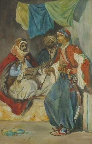 Three Middle Eastern street musicians, 1...