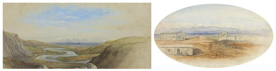 Sir John Gilbert RA - Distant view of Ta...