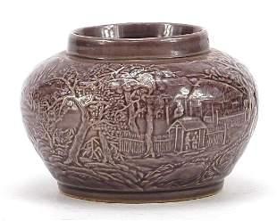 Chinese porcelain vase having a purple g...
