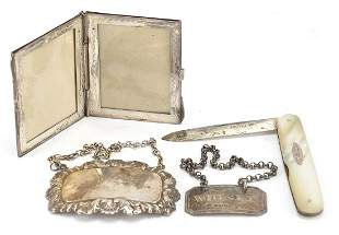 Antique and later silver objects compris...