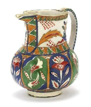 Turkish Kutahya pottery coffee pot hand ...