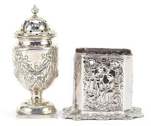 Victorian silver Campana urn caster and ...