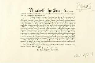 Signed Elizabeth II grant with Foreign a...