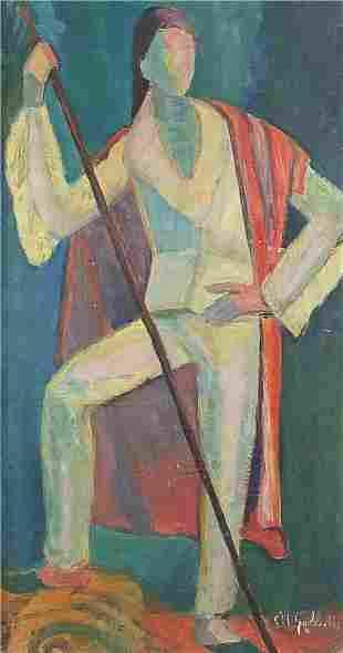 Full length portrait of a standing figur...