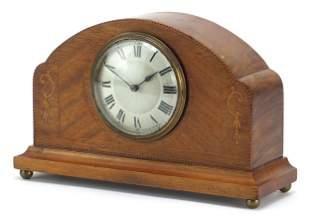 Edwardian inlaid mahogany inlaid mantle ...