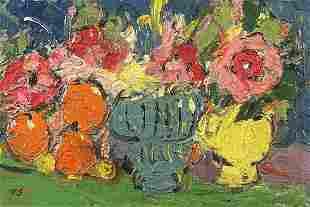 Still life flowers in a vase, Scottish C...