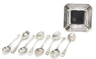 Victorian and later silver items includi...