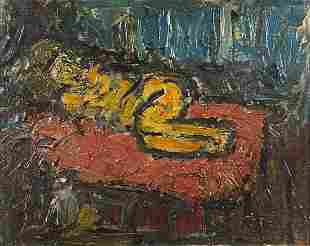 Abstract composition, portrait of a slee...