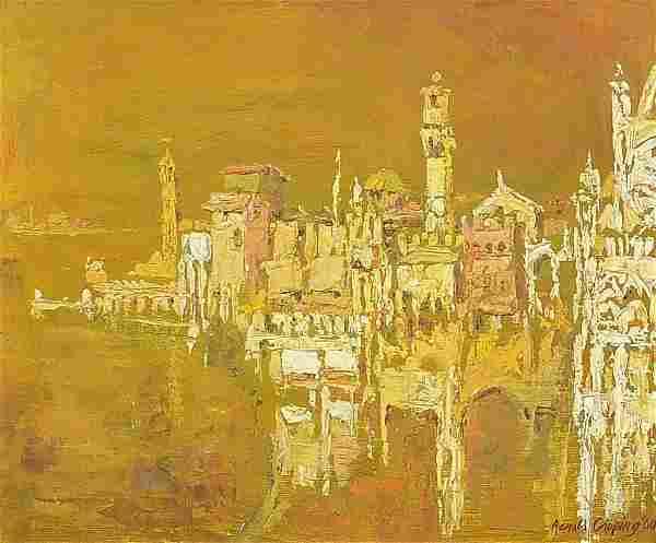 Ronald Copping - Venetian landscape, sig...