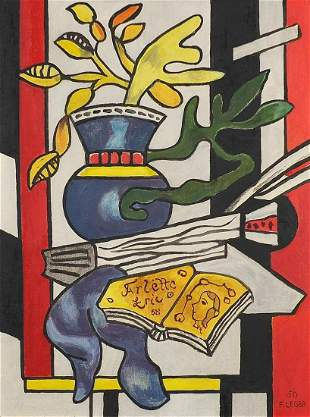 Abstract composition, still life, French...