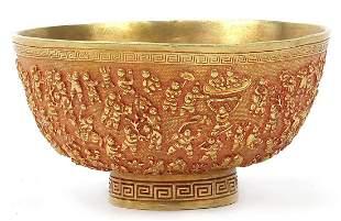Chinese gilt bronze a thousand children ...