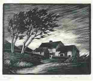 John Fredric Greenwood - Trees before a ...