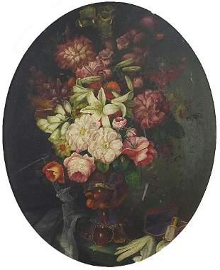 Still life flowers in a vase, Italian Ol...