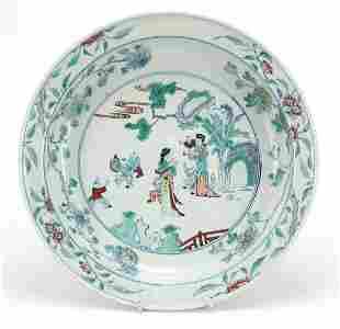 Chinese doucai porcelain basin hand pain...