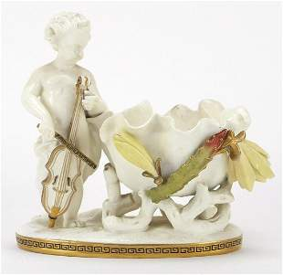 Moore, Victorian porcelain Putti sweetme...