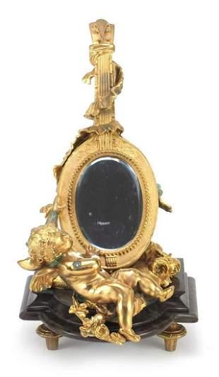 French Empire style gilt bronze table mi...