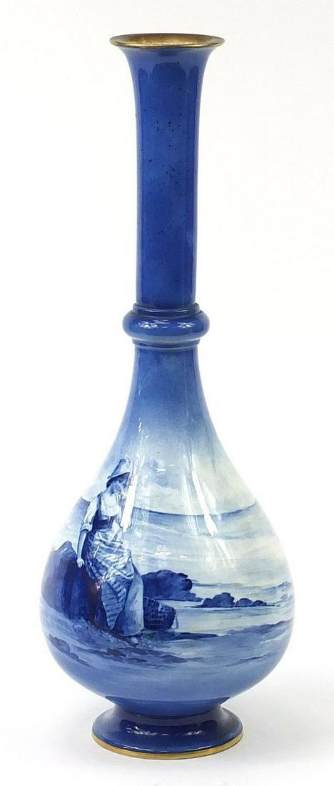 Large Royal Doulton Blue Children series...