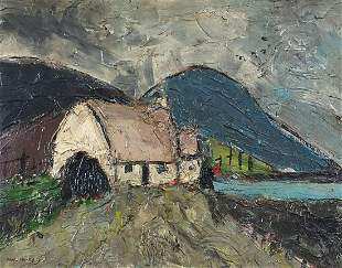 After Paul Henry - Cottage before mounta...