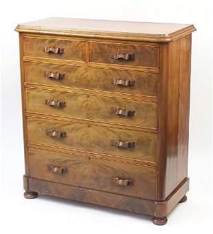 Large 19th century Scottish mahogany six...