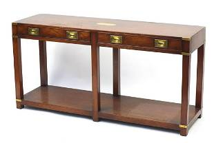 Kennedy furniture, Campaign style yew wo...