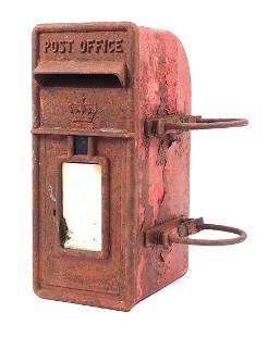 Vintage cast iron Post Office post box w...