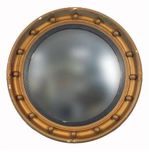 Gilt framed porthole design convex wall ...