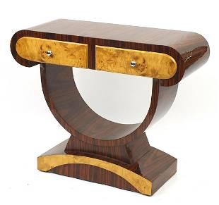 Art Deco design walnut and bird's eye ma...