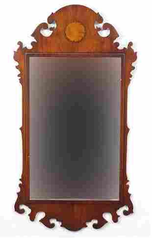 George III design inlaid mahogany wall m...