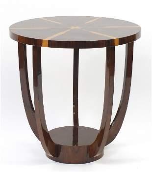 Art Deco design circular rosewood and wa...