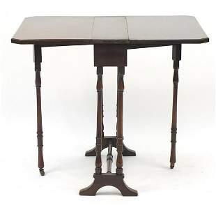 Mahogany drop leaf Sutherland table, 68c...