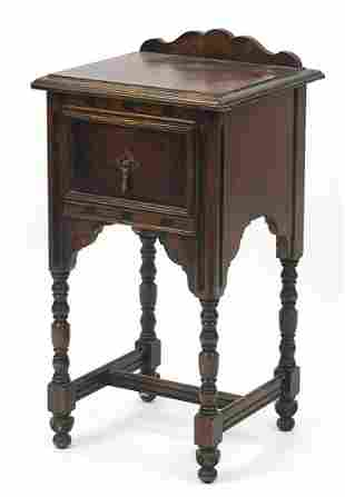 Mahogany side table with drawer and bobb...
