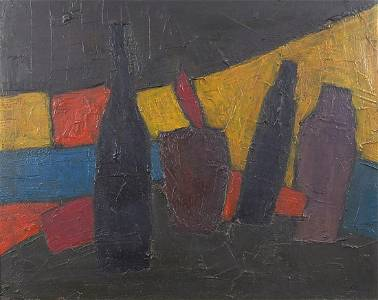 Abstract composition, still life vessels...
