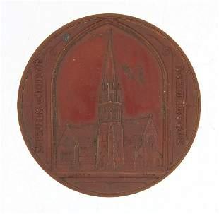Bronze medallion commemorating St Pauls ...