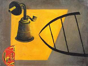 After Joan Miro - Surreal composition, S...