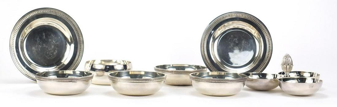 Christofle silver plate including trefoi...
